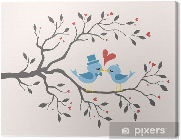 Obraz na płótnie Kissing Ptaki w miłości w oddziale - Święta międzynarodowe