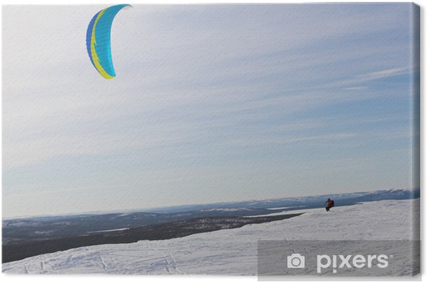 Obraz na płótnie Kiting - Sporty zimowe