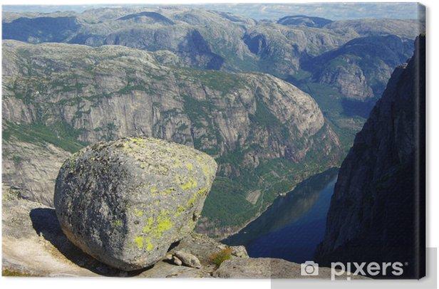 Obraz na płótnie Kjeragbolten, Norwegia - Europa