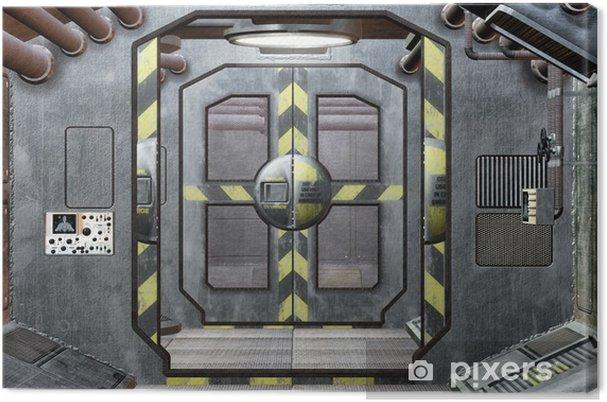 Obraz na płótnie Klapa i korytarz kosmicznym tle - Style