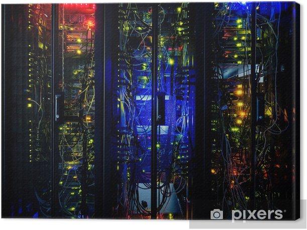 Obraz na płótnie Klaster rack serwer w centrum danych - Internet i sieci