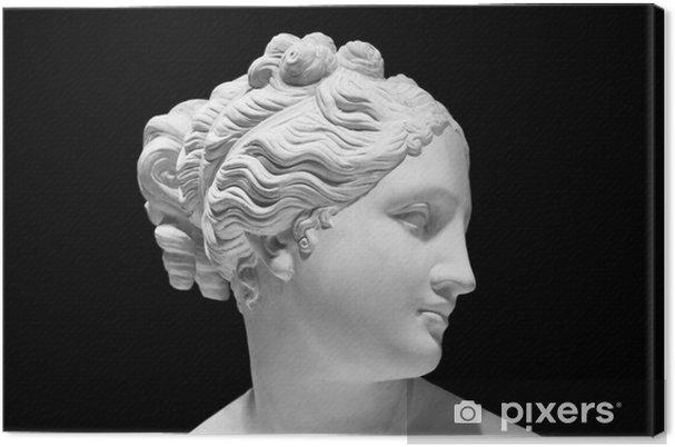 Obraz na płótnie Klasyczny biały popiersie greckiej bogini samodzielnie na czarnym - Sztuka i twórczość