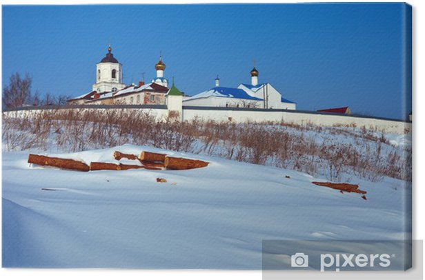 Obraz na płótnie Klasztor Vasiliev w Suzdal zimą - Azja