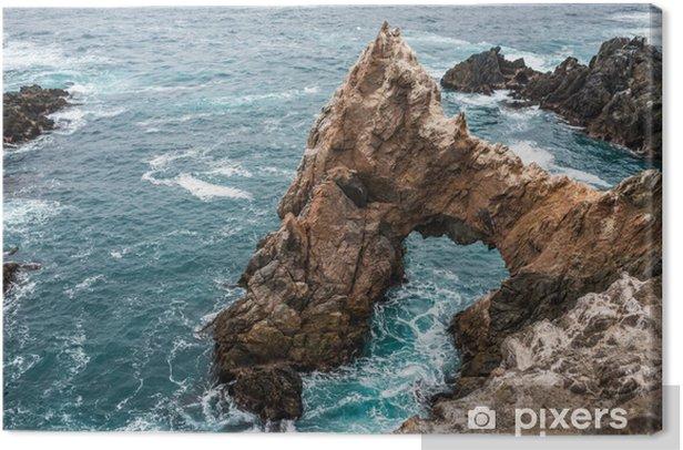 Obraz na płótnie Klify w pobliżu morza w peruwiańskiej wybrzeżu Peru w Puerto inca - Ameryka
