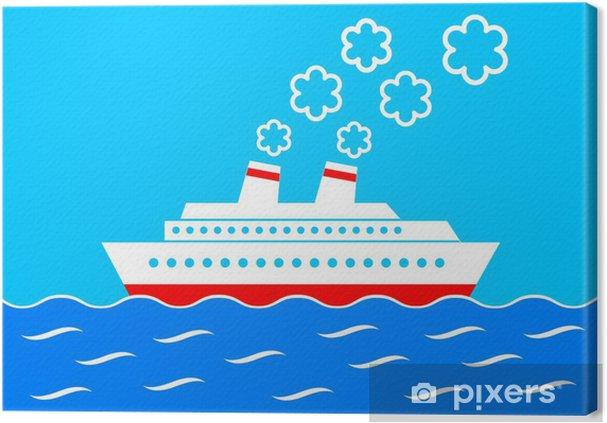 Obraz na płótnie Kliparty statek - Transport wodny