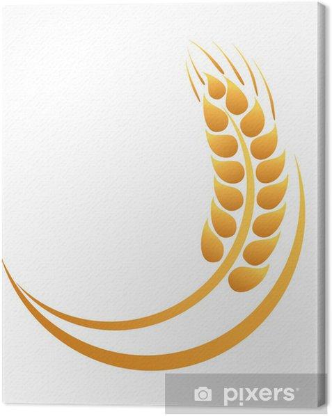 Obraz na płótnie Kłosy pszenicy ikona - Posiłki