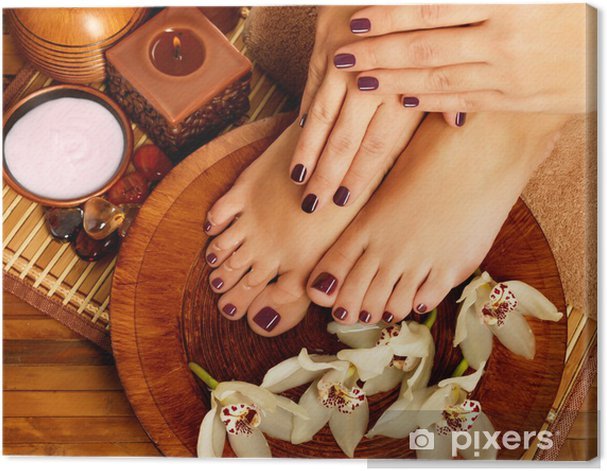 Obraz na płótnie Kobiet stóp w salonie spa na procedury pedicure - Uroda i pielęgnacja ciała