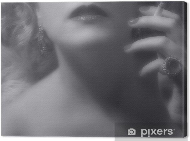 Obraz na płótnie Kobieta, czarno-biały film noir wygląd - Tematy
