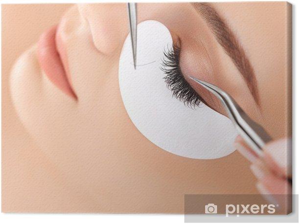 Obraz na płótnie Kobieta oko z długimi rzęsami. Przedłużanie rzęs - Części ciała