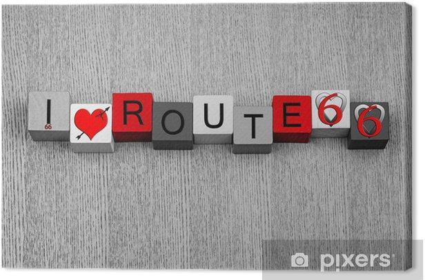 Obraz na płótnie Kocham Route 66 - seria znak dla amerykańskich ikon i podróży - Wolność