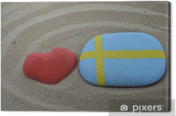 Obraz na płótnie Kocham szwecja koncepcji - Europa