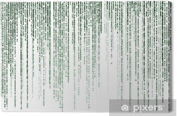 Obraz na płótnie Kod matrycowy na białym tle - Tła