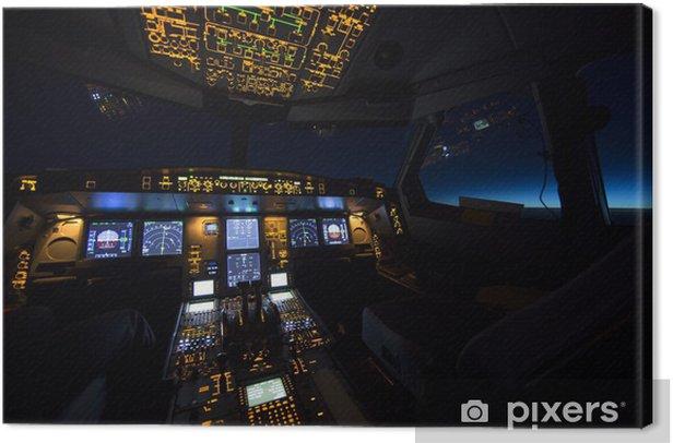 Obraz na płótnie Kokpit samolotu na wschodu lub zachodu słońca - Style