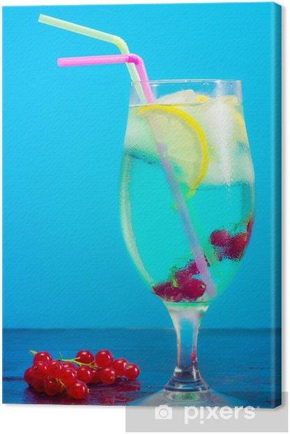 Obraz na płótnie Koktajl lemoniady z czerwonych porzeczek - Alkohol