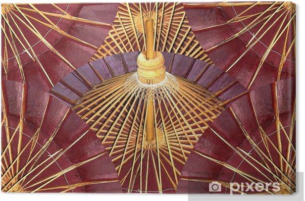 Obraz na płótnie Kolaż z papieru i bambusa lakierowane parasole - Azja