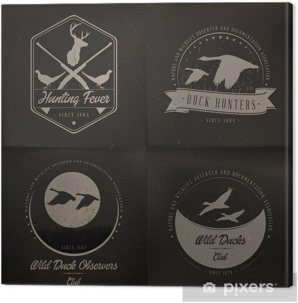 Obraz na płótnie Kolekcja dzikich zwierząt odznaka - Ptaki