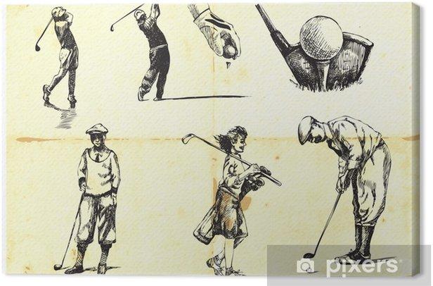 Obraz na płótnie Kolekcja Golf ręcznie rysowane - Sporty indywidualne