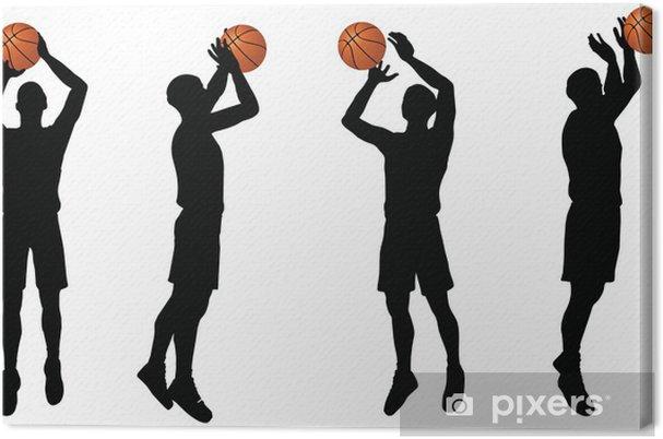 Obraz na płótnie Kolekcja koszykarze strzelać sylwetki w pozycji - Sporty drużynowe