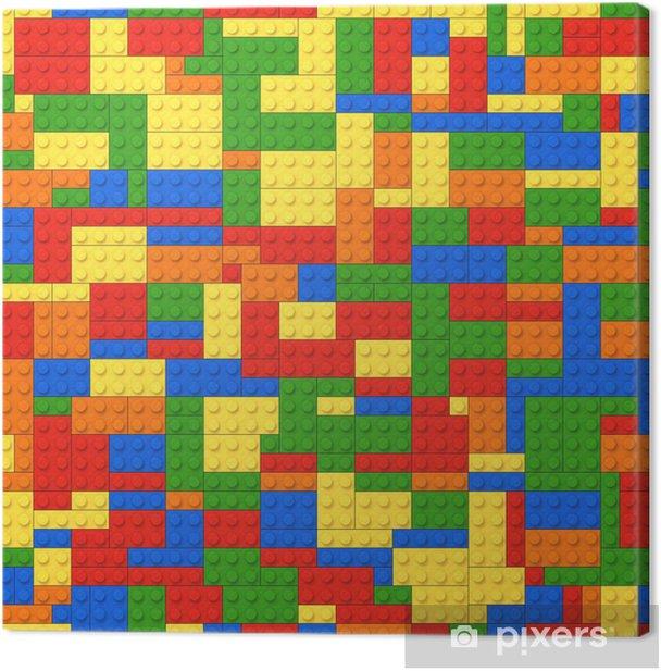 Obraz na płótnie Kolor tła cegły z zabawkami - Przeznaczenia