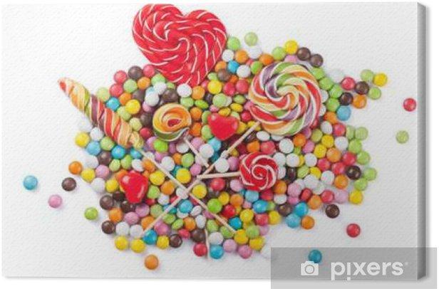 Obraz na płótnie Kolorowe cukierki i lizaki - Jedzenie