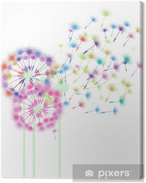 Obraz na płótnie Kolorowe dmuchawce - Naklejki na ścianę
