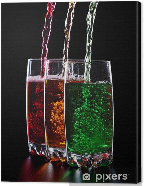 Obraz na płótnie Kolorowe drinki - Posiłki
