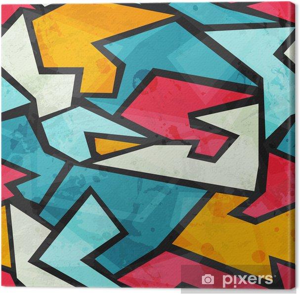 Obraz na płótnie Kolorowe graffiti szwu - Tła