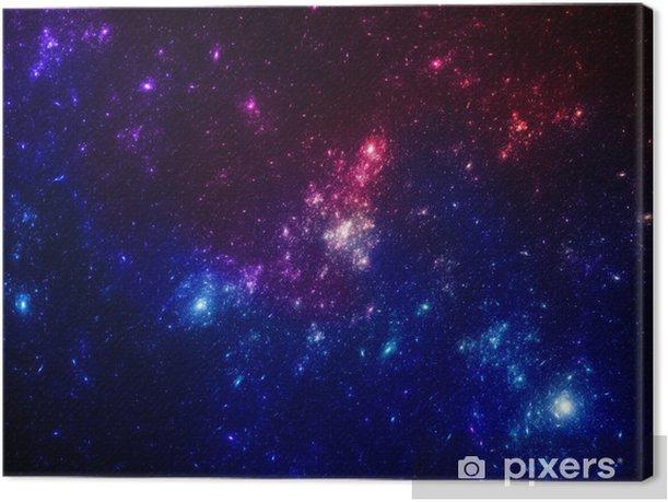 Obraz na płótnie Kolorowe gwiazdki w przestrzeni - Tematy