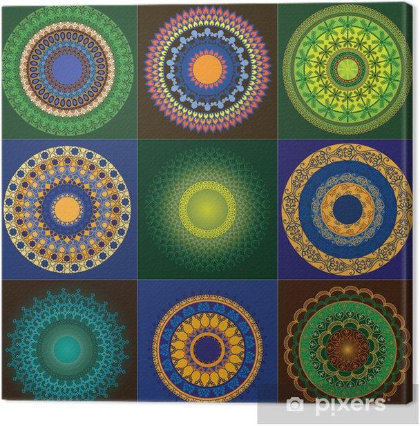 Obraz na płótnie Kolorowe Henna Mandala design - Tła