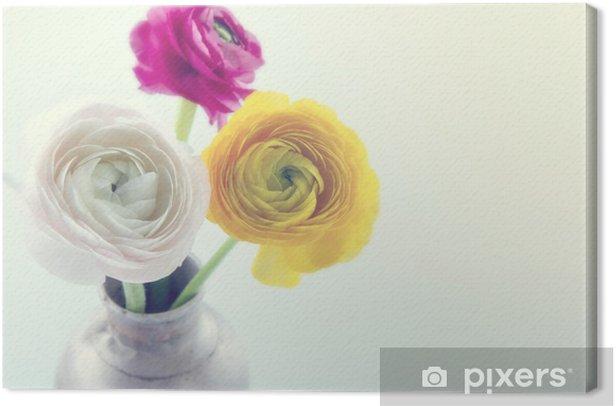 Obraz na płótnie Kolorowe Jaskier Flowers4 - Kwiaty