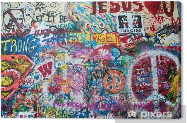 Obraz na płótnie Kolorowe John Lennon ściana w Pradze - Graffiti