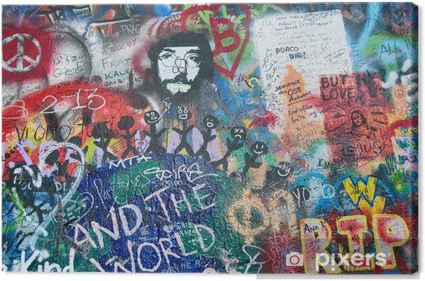 Obraz na płótnie Kolorowe John Lennon ściana w Pradze - Inne