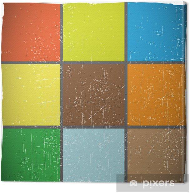 Obraz na płótnie Kolorowe kostki - Abstrakcja