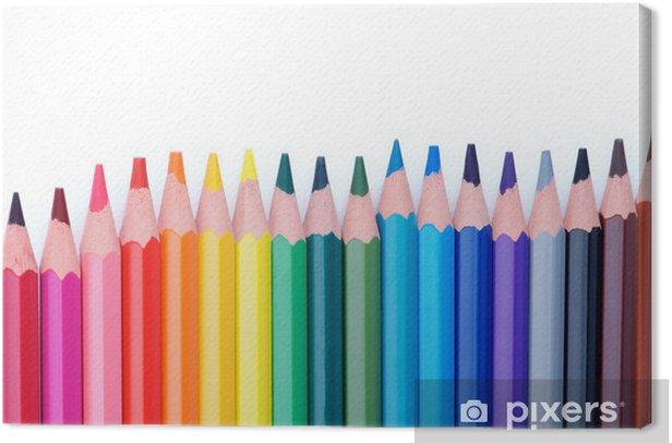 Obraz na płótnie Kolorowe kredki ramki - Edukacja