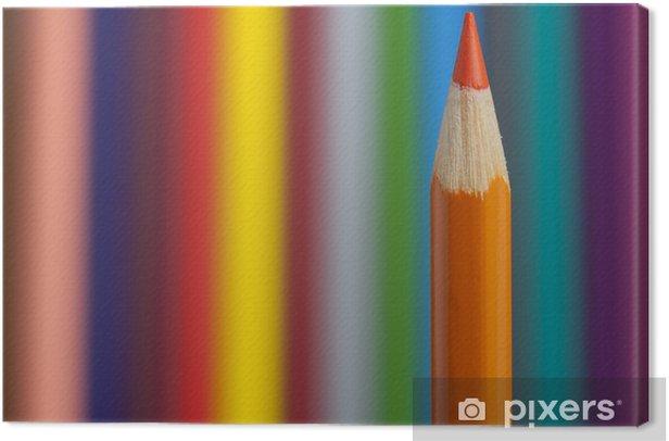 Obraz na płótnie Kolorowe kredki - Sztuka i twórczość