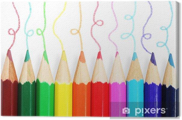 Obraz na płótnie Kolorowe kredki. - iStaging