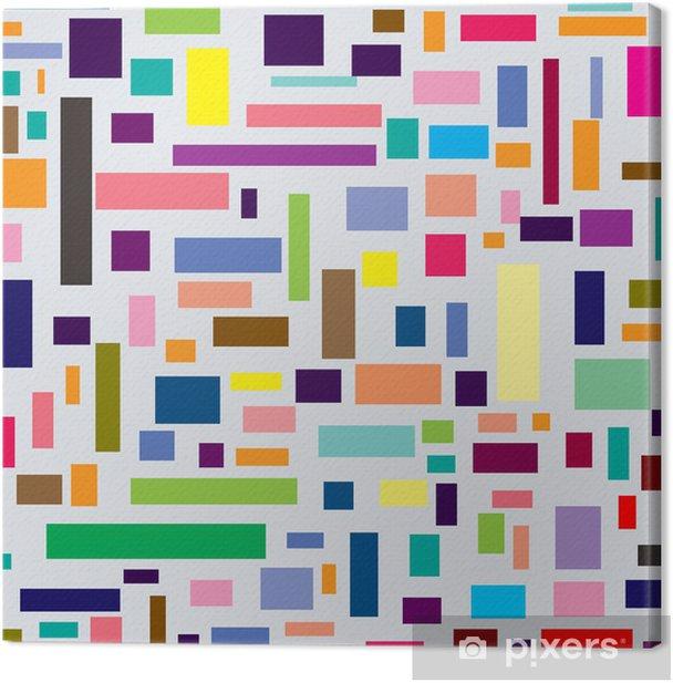 Obraz na płótnie Kolorowe kwadraty - Sztuka i twórczość