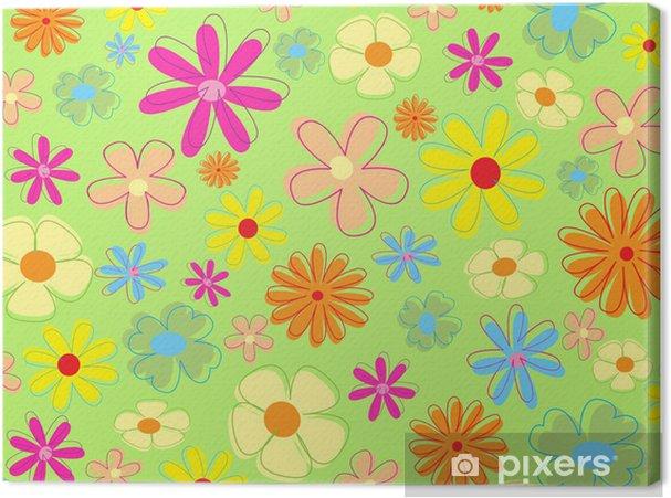Obraz na płótnie Kolorowe kwiaty - Kwiaty