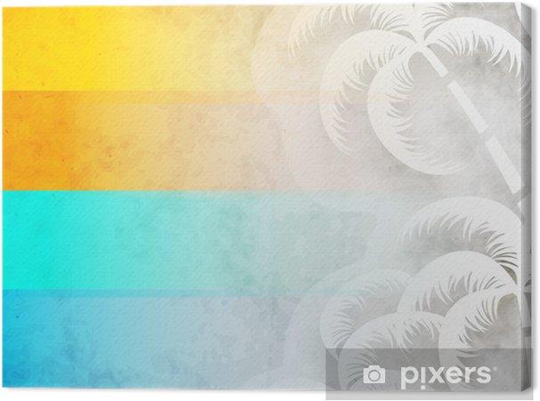 Obraz na płótnie Kolorowe letnie wakacje z palmami w tle. - Palmy