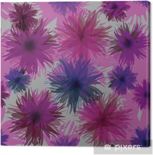 Obraz na płótnie Kolorowe modne kwiaty / Streszczenie kwiatów papier pakowy - Tekstury