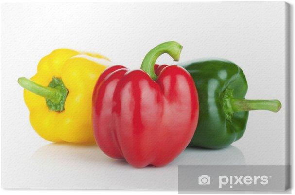 Obraz na płótnie Kolorowe papryki - Warzywa