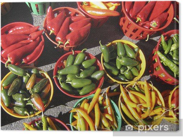 Obraz na płótnie Kolorowe papryki - Rolnictwo