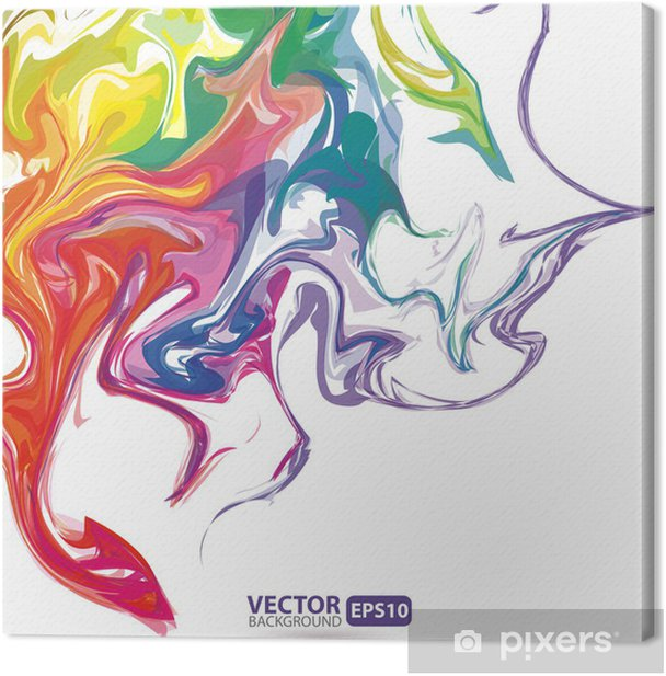 Obraz na płótnie Kolorowe plamy farby tle abstrakcyjna - Tła