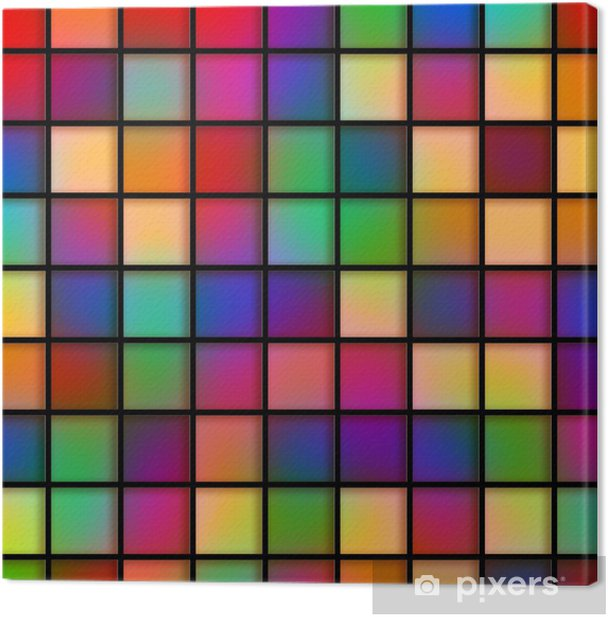 Obraz na płótnie Kolorowe Płytki szklane - Abstrakcja