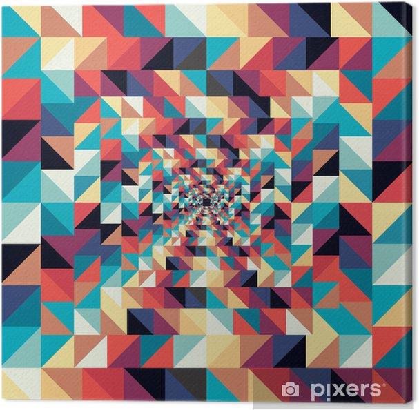 Obraz na płótnie Kolorowe retro abstrakcyjne efekt wizualny szwu. - Sztuka i twórczość
