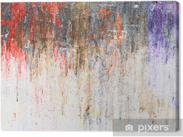 Obraz na płótnie Kolorowe ściany - tekstury - Tła