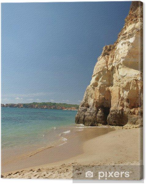 Obraz na płótnie Kolorowe skały na wybrzeżu Algarve - Wakacje
