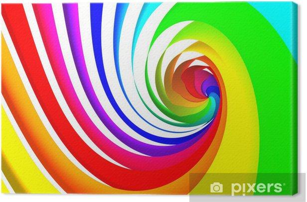 Obraz na płótnie Kolorowe spiralne - Abstrakcja