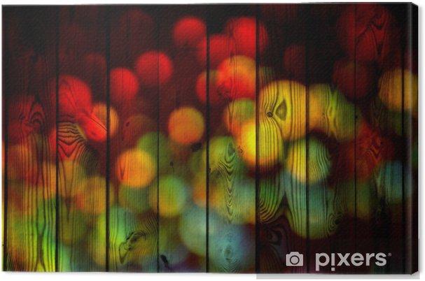 Obraz na płótnie Kolorowe stożki światła na drewnie - Tekstury