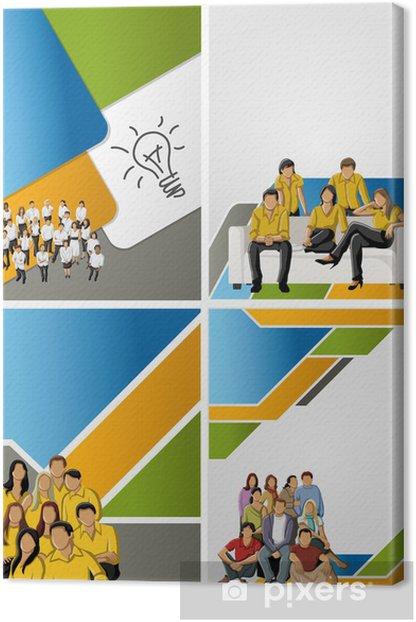 Obraz na płótnie Kolorowe szablon do broszury reklamowej z ludźmi biznesu - Nastolatkowie